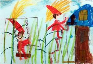 園小混合クラス11月1回目・パステル画