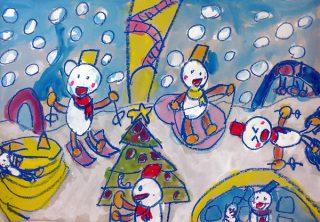 園小混合クラス12月1回目・おはなしの絵