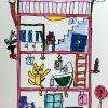 園小混合クラス6月1回目・サインペン画