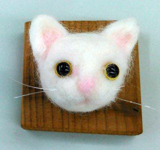 小学生クラス1月1回目・羊毛フェルト「猫」