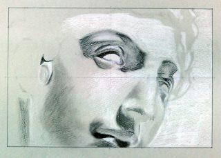 絵画クラス4月の制作・グレーデッサン