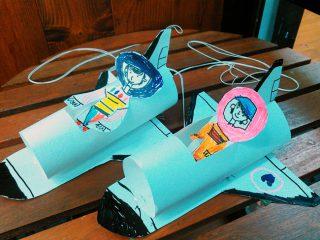 園小混合クラス6月2回目・動くスペースシャトル