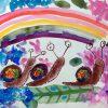 園小混合クラス6月1回目・虹色のかたつむり