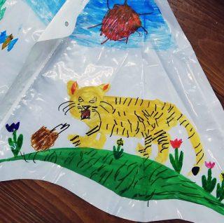 園小混合クラス1月2回目・オリジナル凧