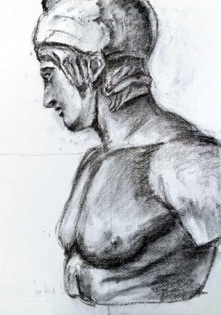 絵画クラス・3月の制作「木炭デッサン」