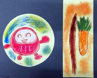 園小混合クラス6月1回目・「丸い絵 長い絵」