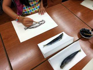 小学生クラス7月2回目・ペン画