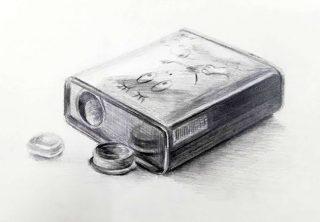 絵画クラス12月の制作・鉛筆デッサン