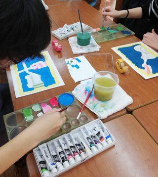 絵画クラス2月の制作・色彩構成