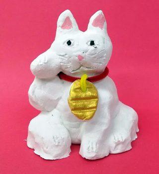 園小混合クラス2月2回目・かわいい招き猫