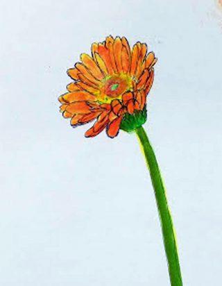 小学生クラス3月2回目の活動・春の花