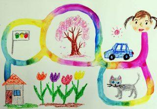 園小混合クラス6月1回目「色のさんぽみち」