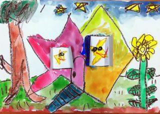 園小混合クラス7月1回目・「窓のある絵」