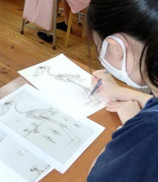 絵画クラス7月の制作・ペン画