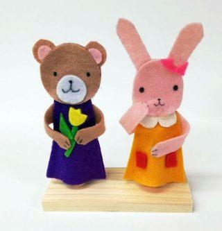 園小混合クラス9月2回目・フェルト指人形