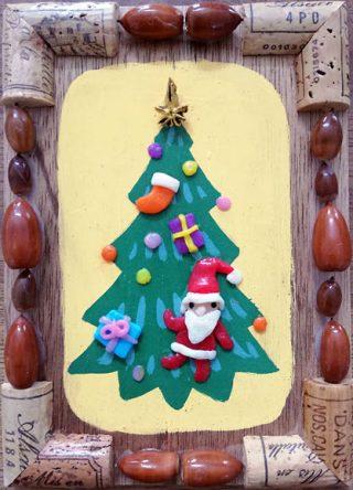 園小混合クラス11月2回目・クリスマスの額絵
