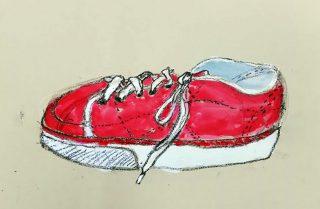 小学生クラス11月2回目・紐靴を描く