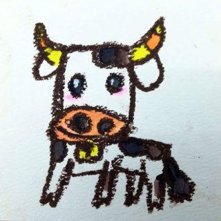 小学生クラス12月1回目・牛をデザインする