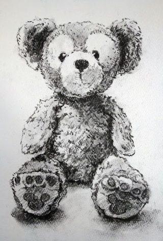 小学生クラス2月2回目・木炭画