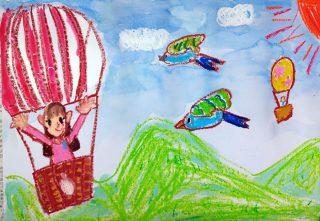 園小混合クラス4月2回目・気球に乗って