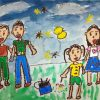 園小混合クラス8月1回目・家族の絵