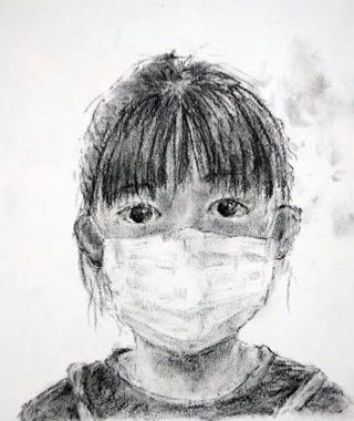 絵画クラス9月の制作・木炭デッサン
